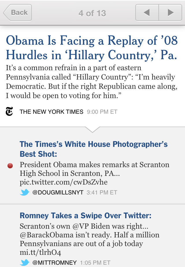 NYTimes Election 2012 screenshot 2