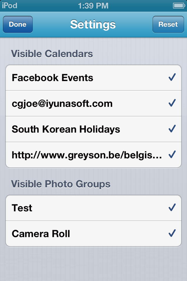 PhotoCal with Event Screenshot