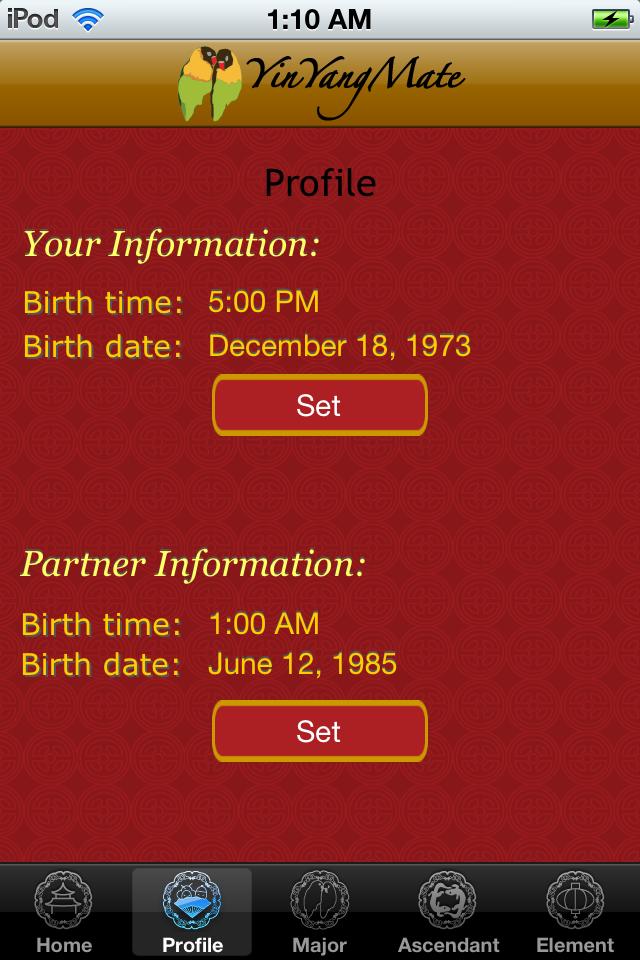 YinYangMate – Partner astrology and the chinese zodiac Screenshot