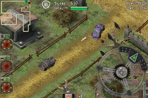 Horror Racing Lite screenshot 1