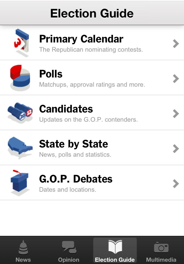 NYTimes Election 2012 screenshot 4