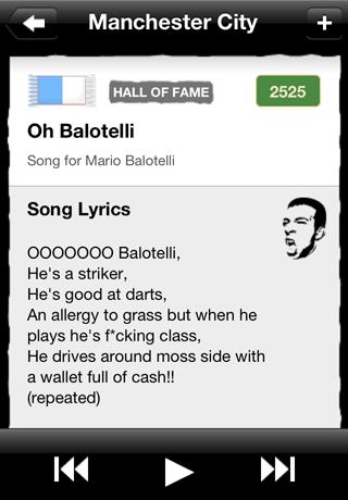 FanChants: Football Songs & Soccer Chants Screenshot