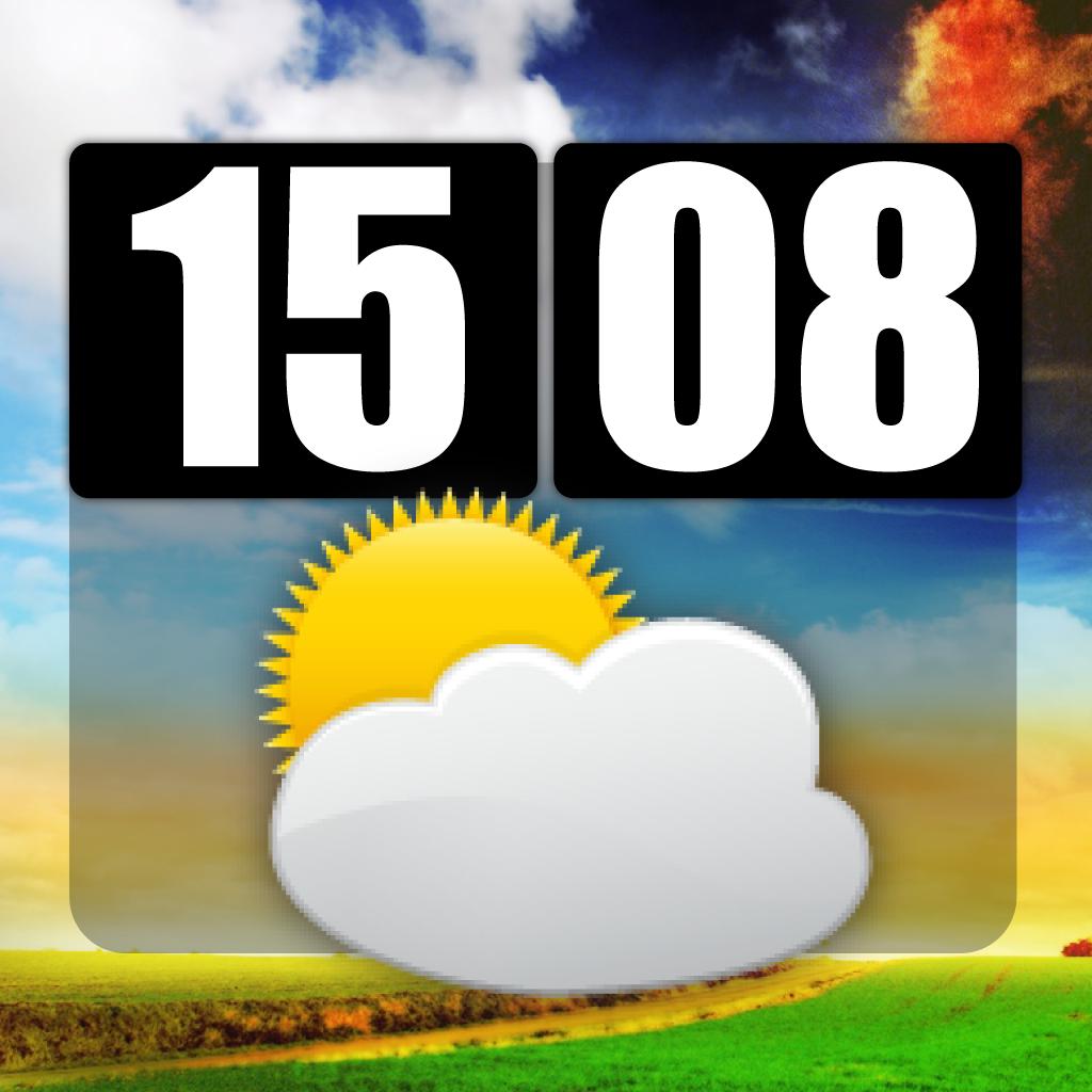 A Weather Clock Center Pro