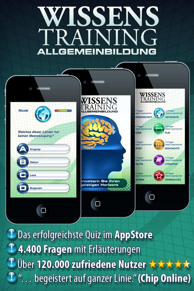Wissenstraining Pro. Das Quiz screenshot 1