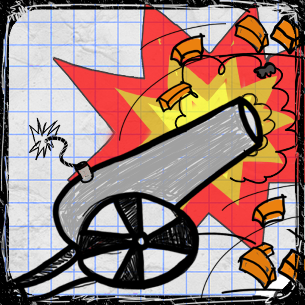Doodle Cannon PRO - Fun Physics Game For Kids