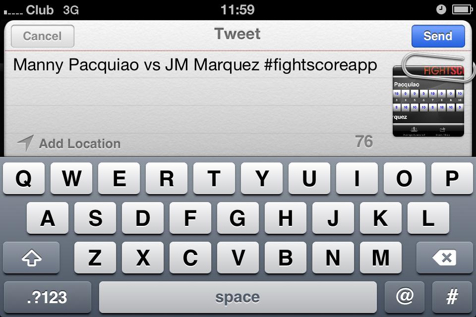 FightScore+ Boxing & MMA Scorecard Screenshot