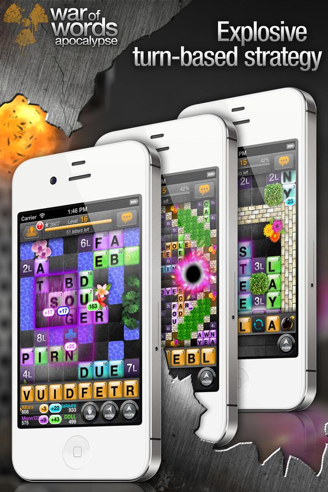 War of Words 2 - Crossword Strategy Game screenshot 2