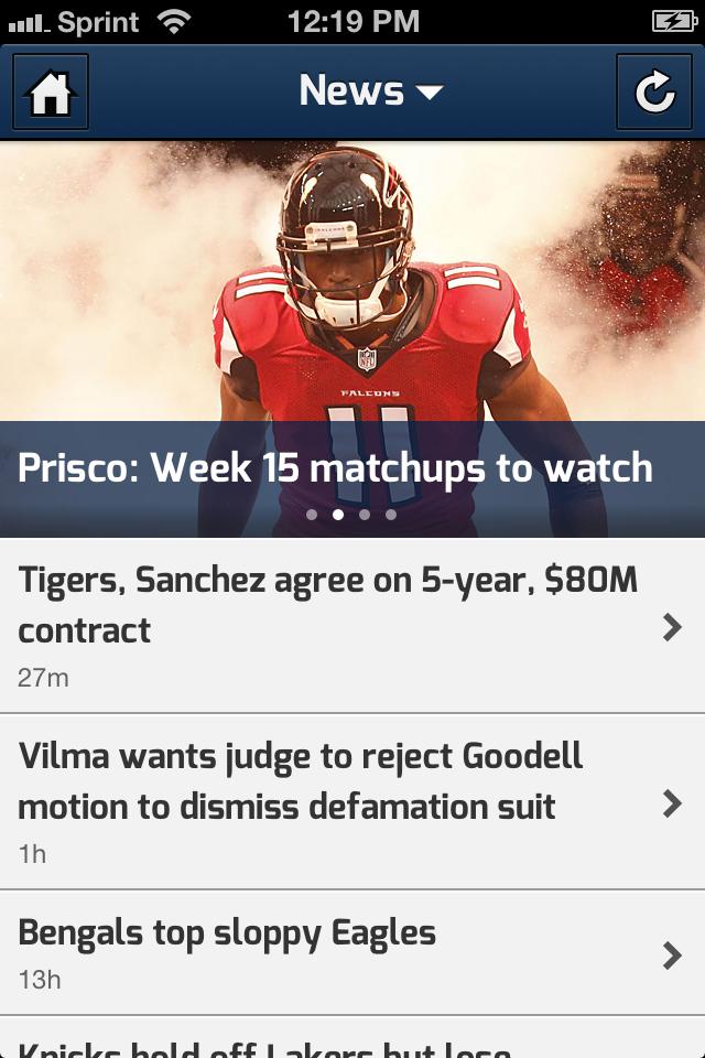 CBS SportCaster screenshot 3