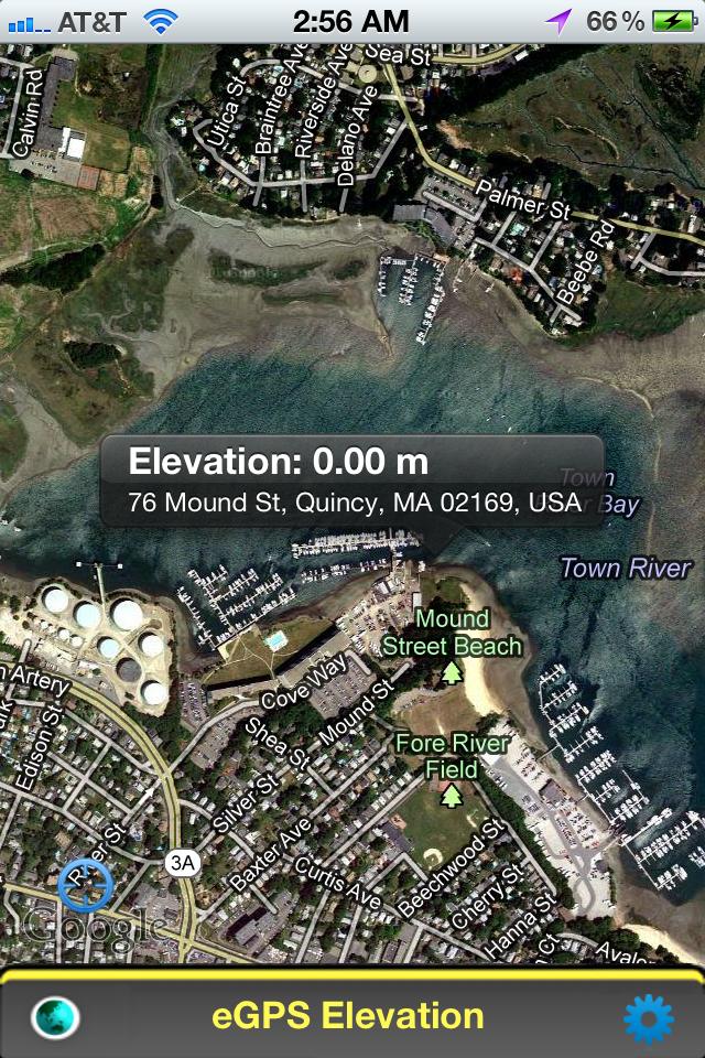 eGPS Elevation Screenshot