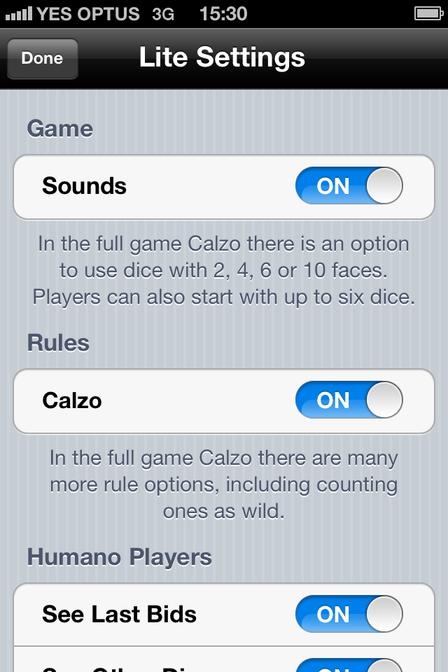 Calzo Lite Screenshot