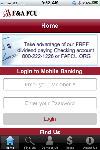 Fafcu Mobile Iphone Finance Apps By F A Federal Credit Union