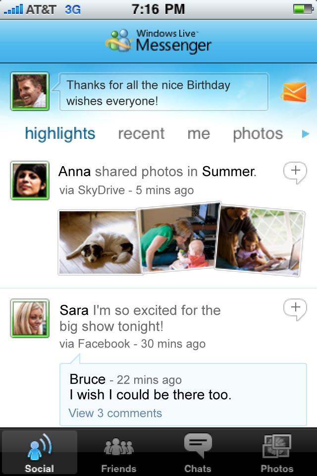 Windows Live Messenger screenshot 1
