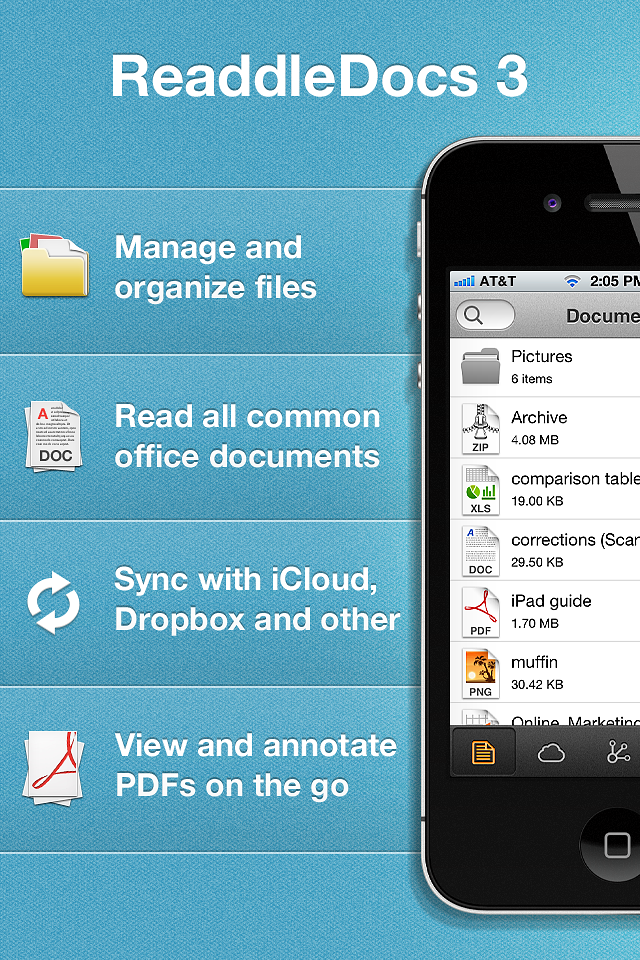 ReaddleDocs (documents/attachments viewer and file manager) screenshot #1