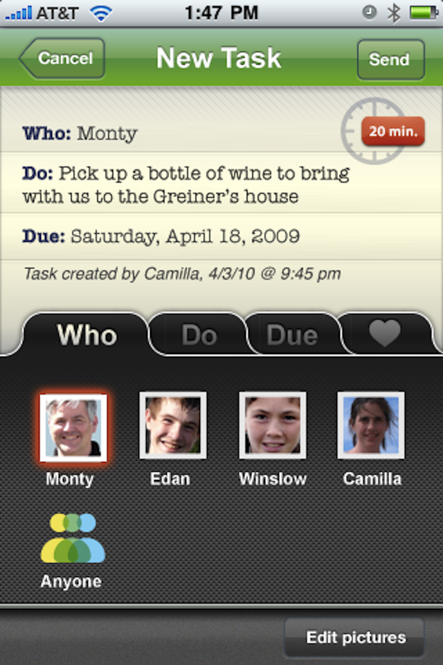 HoneyDo screenshot 2