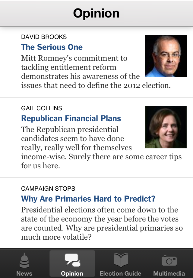 NYTimes Election 2012 screenshot 3