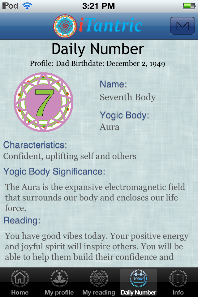 iTantric Yogic Numerology Screenshot