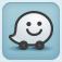 Waze social GPS traffic & gas Icon