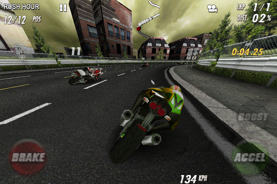 StreetBike: Full Blast Lite screenshot #3