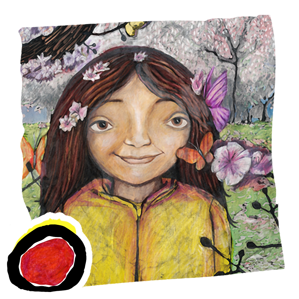 The Trees Grin Beside Me: Learn about the beauty of nature in this poetic book written by Michelle Macdonald and  illustrated by Leah Davis (an Auryn App)