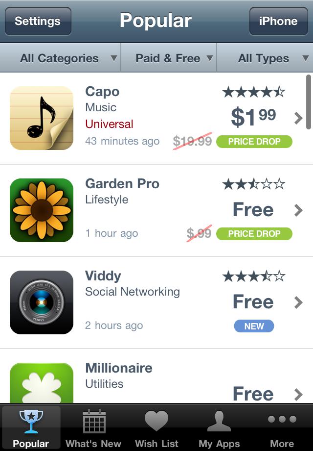 AppShopper screenshot #1