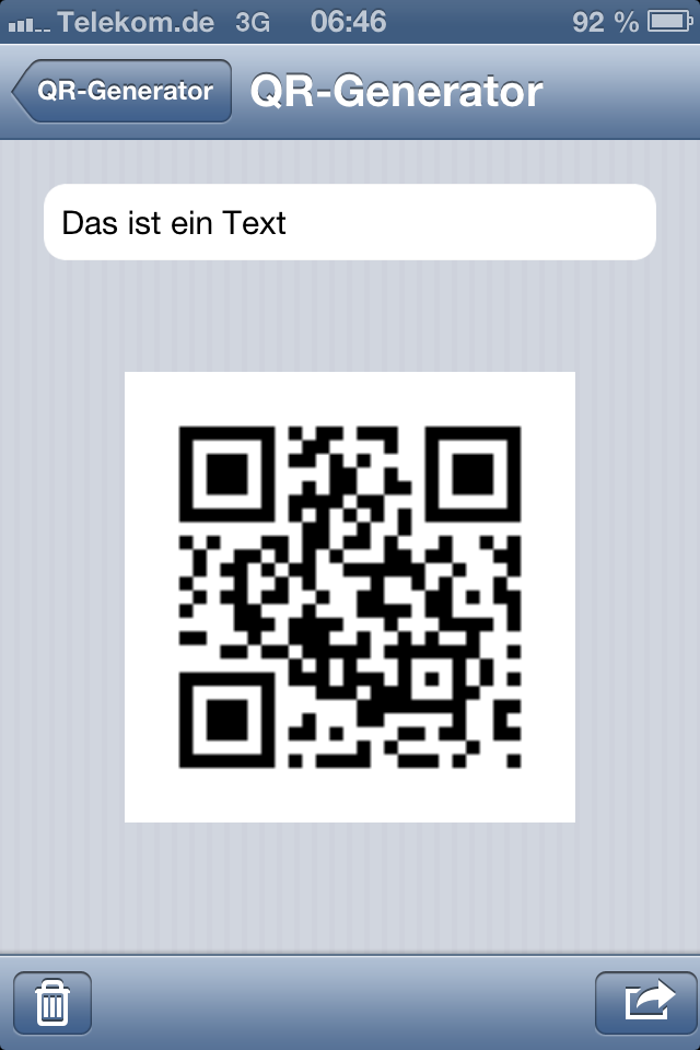 iScan Barcode Screenshot