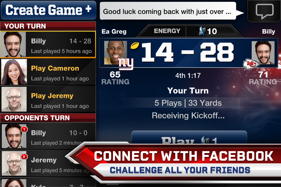 Madden NFL 13 Social screenshot #3