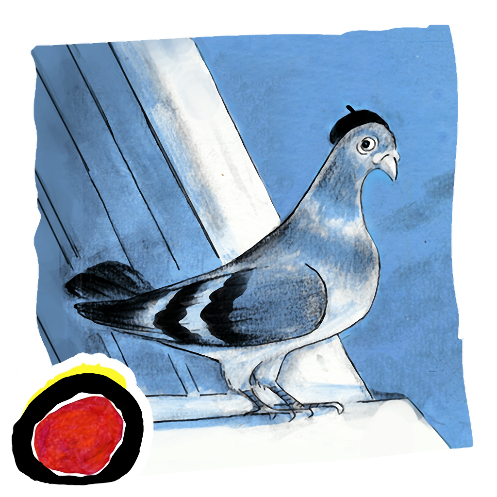 Inspector Peckit - a classic story book for kids about a detective pigeon's search for a little girl's lost knit bag by the author of Corduroy, Don Freeman. A perfect bedtime tale.(iPad version, by Auryn Apps)