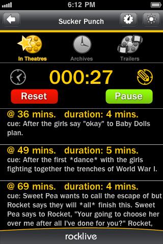 RunPee screenshot 1