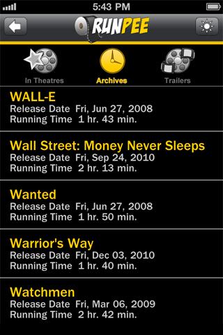 RunPee screenshot 2