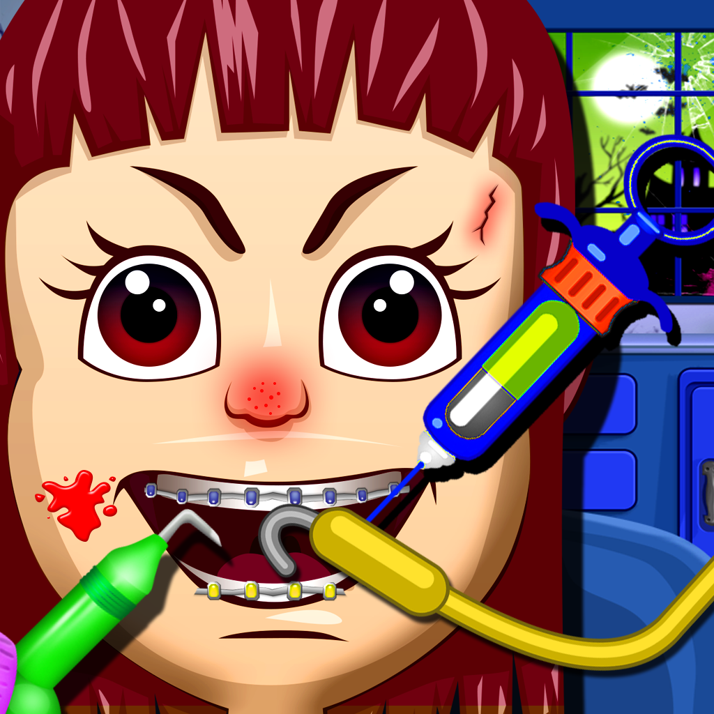 Holiday Horror Kids Dentist Makeover - Fun Kids Pou Games for Boys and Girls (free)