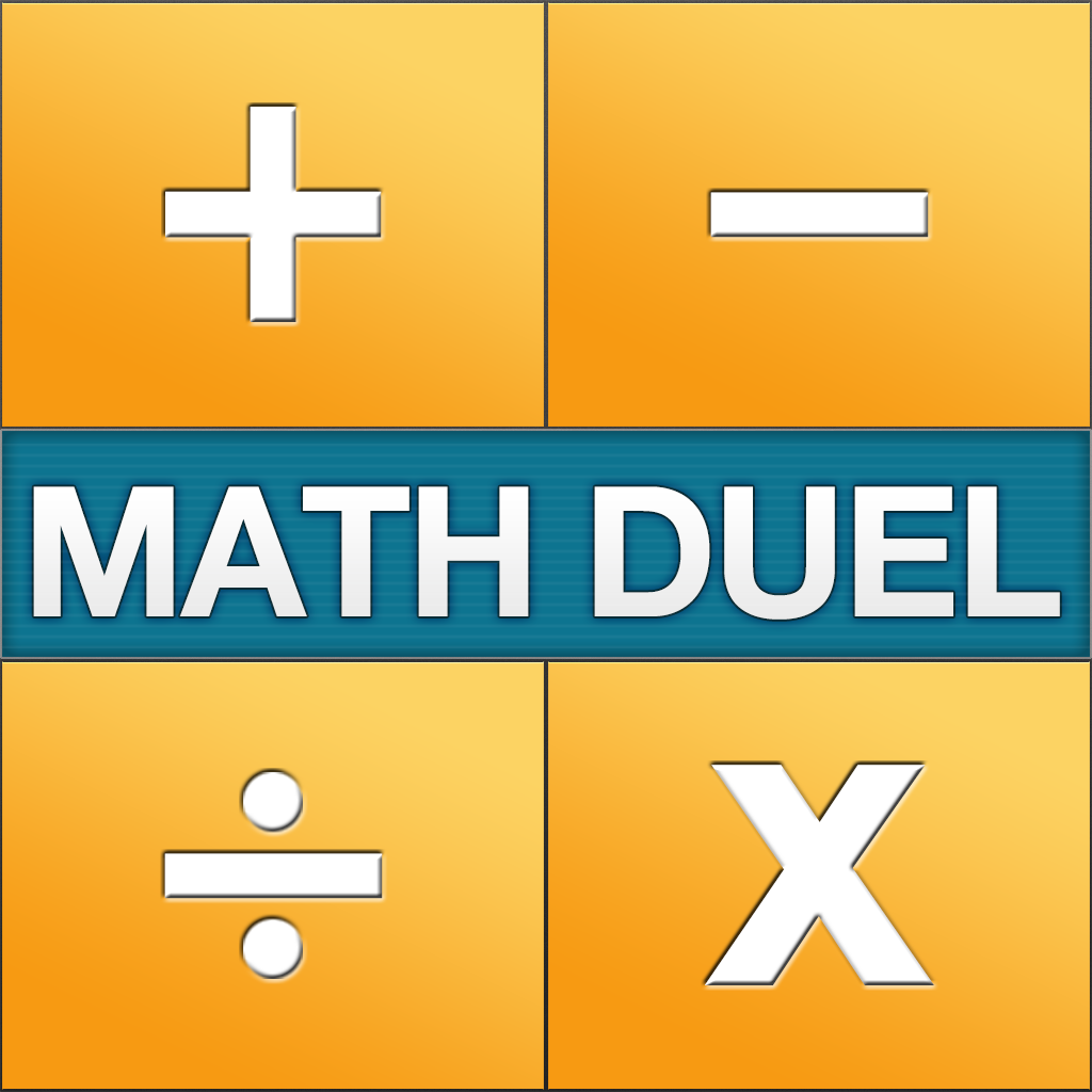 Math Duel - Two Player Split Screen Mathematical Game for Kids and Adult Brain Training - Addition, Subtraction, Multiplication and Division!