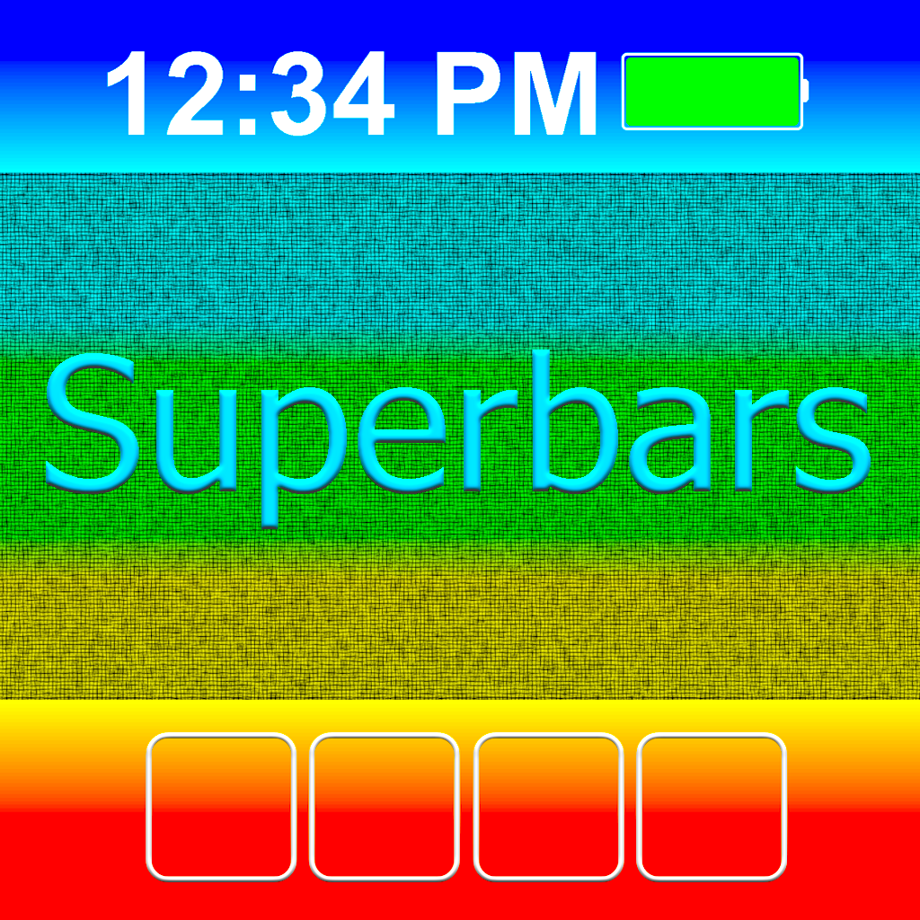 Superbars: create wallpapers with colored bars and frames to change the look of your Home & Lock screens