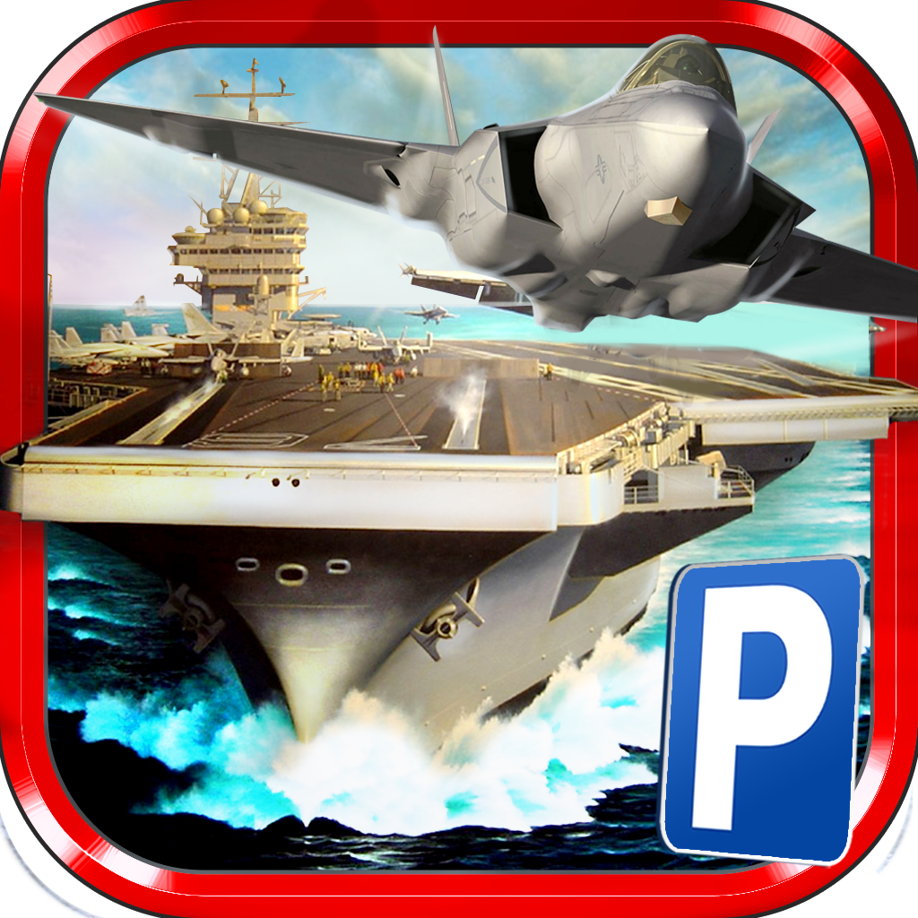 3D Airplane Parking Simulator Game - Real Aircraft Carrier