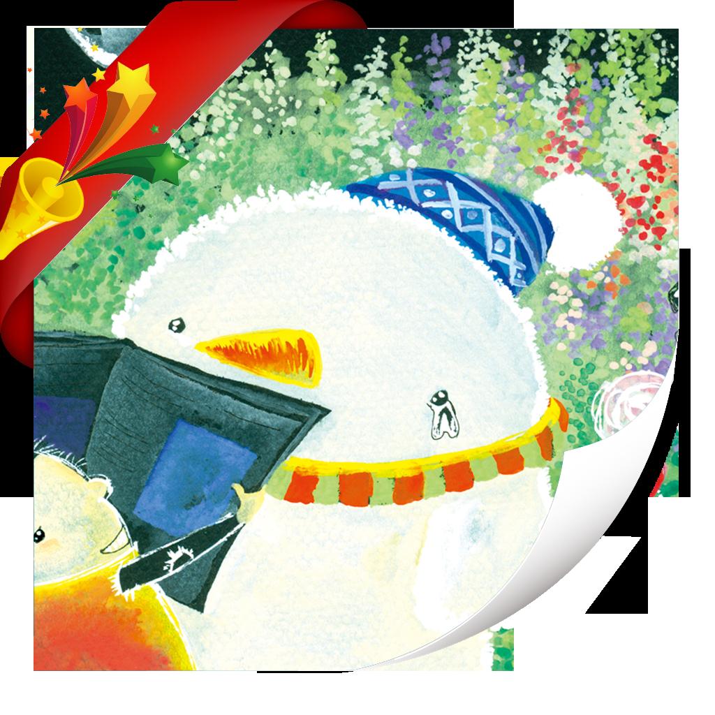 想躲进冰箱的雪人-小喇叭绘本-yes123(免费) icon