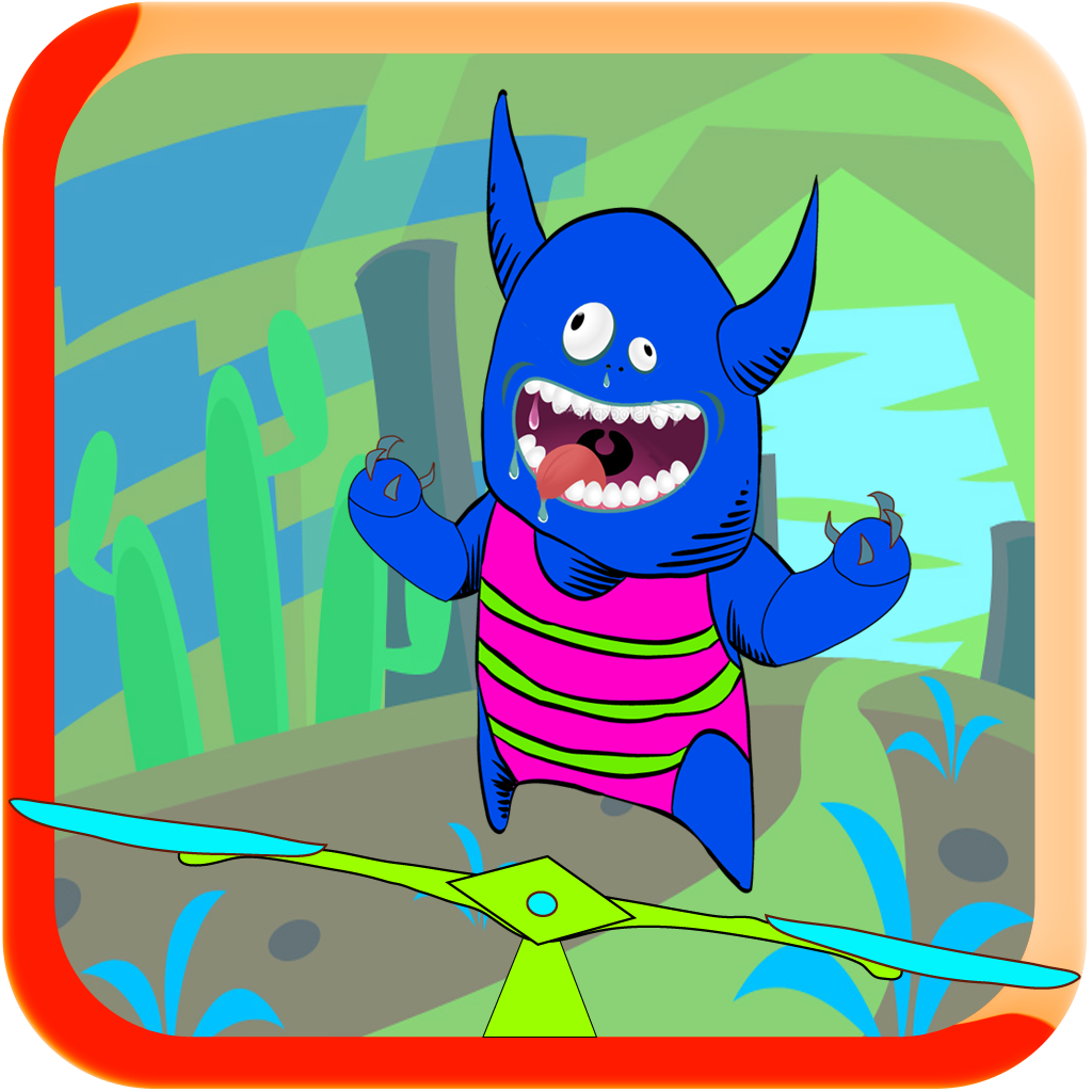 A Monster Race No Mercy - Bouncing Monster Pop Game