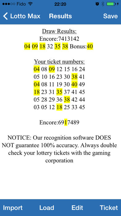 Lotto Scanner App Iphone