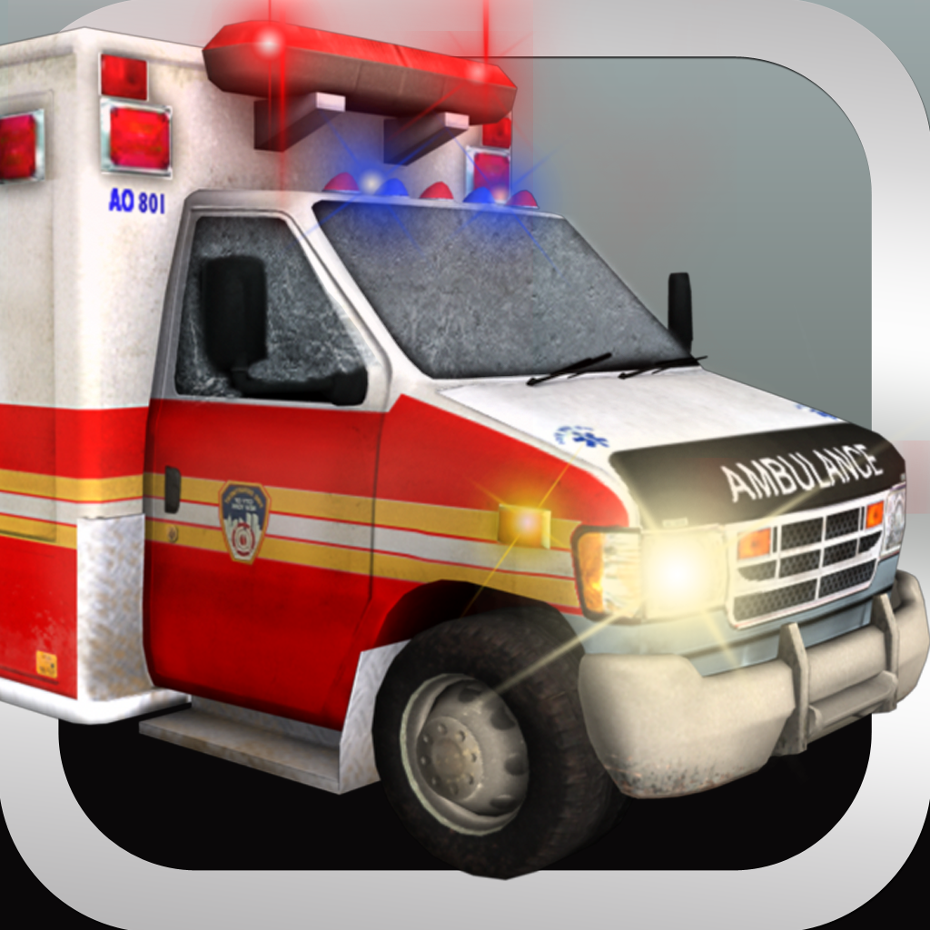 Ambulance 3D Parking Simulator PRO - Full Emergency Driving Car Version icon