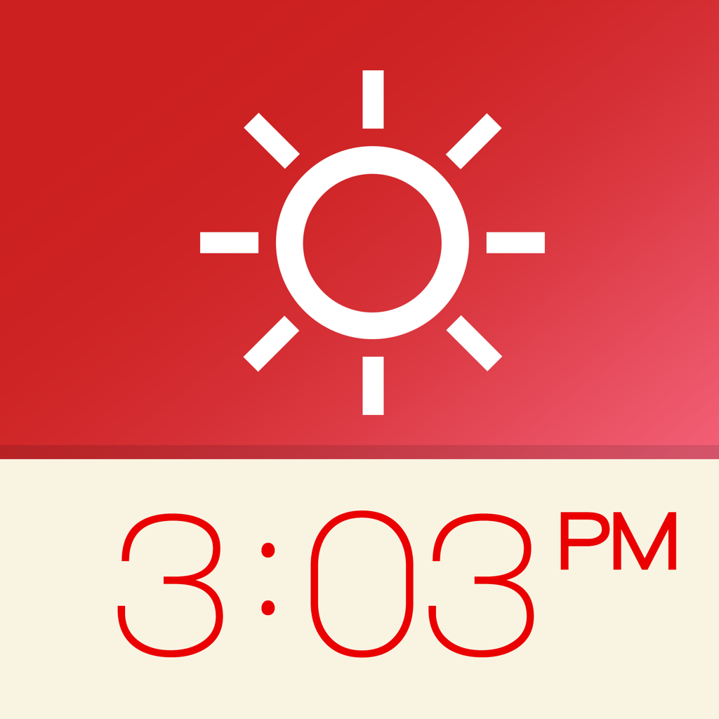 Red Clock (Weather & Alarm)