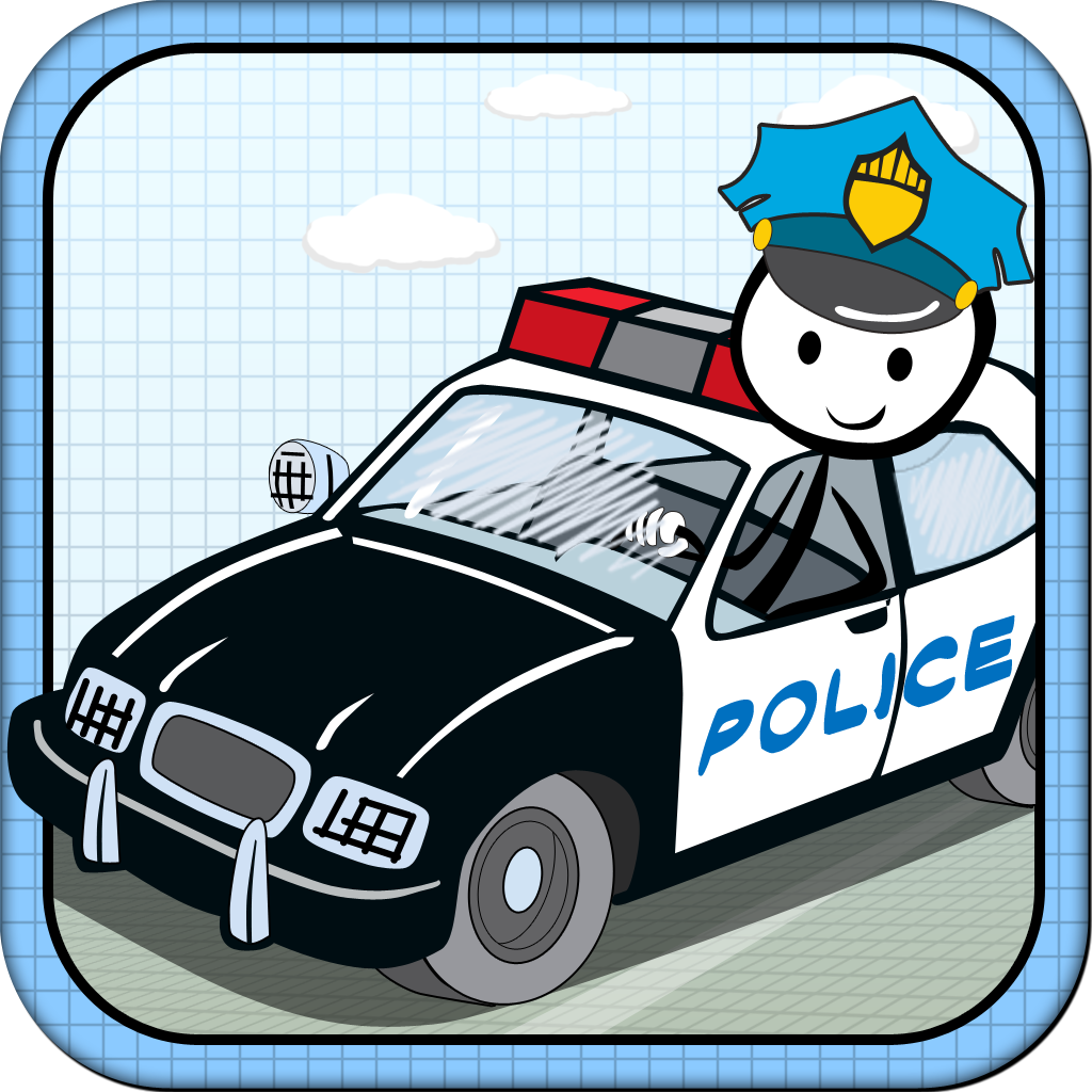 A Stickman Police Car Race : The Doodle Chase Pro By Jimmy On
