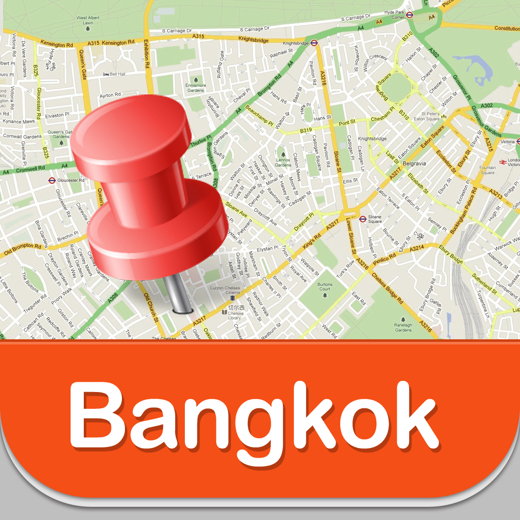 Aiport Icon Subway Map.Bangkok Offline Map Guide Airport Subway And City Offline Map
