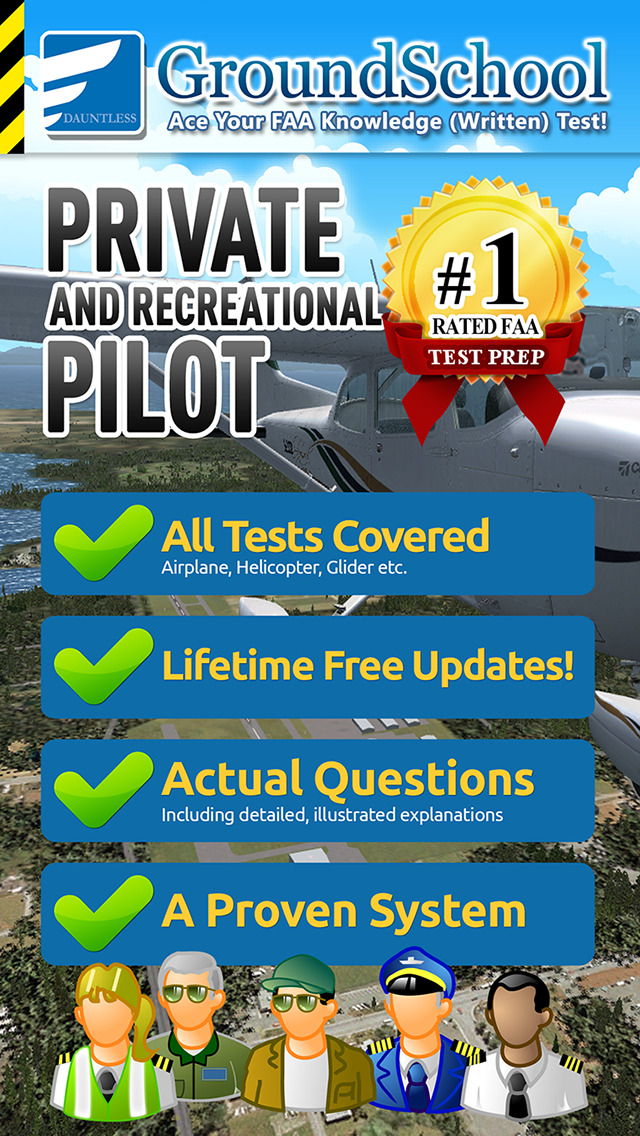 GroundSchool FAA Knowledge Test Prep - Private and Recreational Pilot