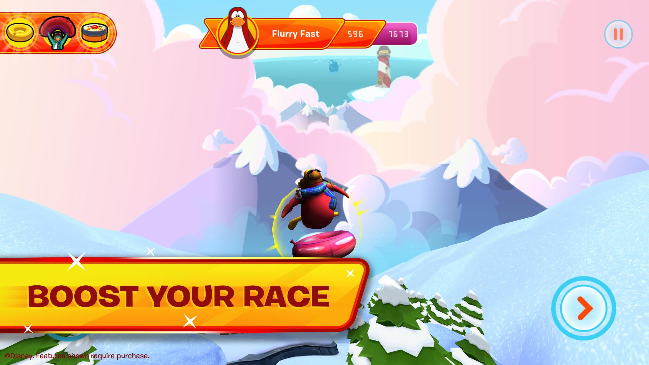 Club Penguin Sled Racer screenshot-4