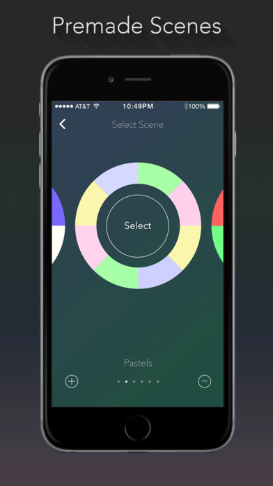 Lumenplay App-Enabled Lights Screenshot