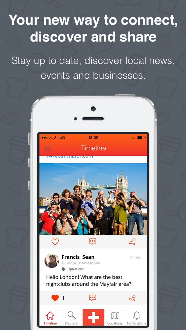 Hood  – Your social local app. Screenshot