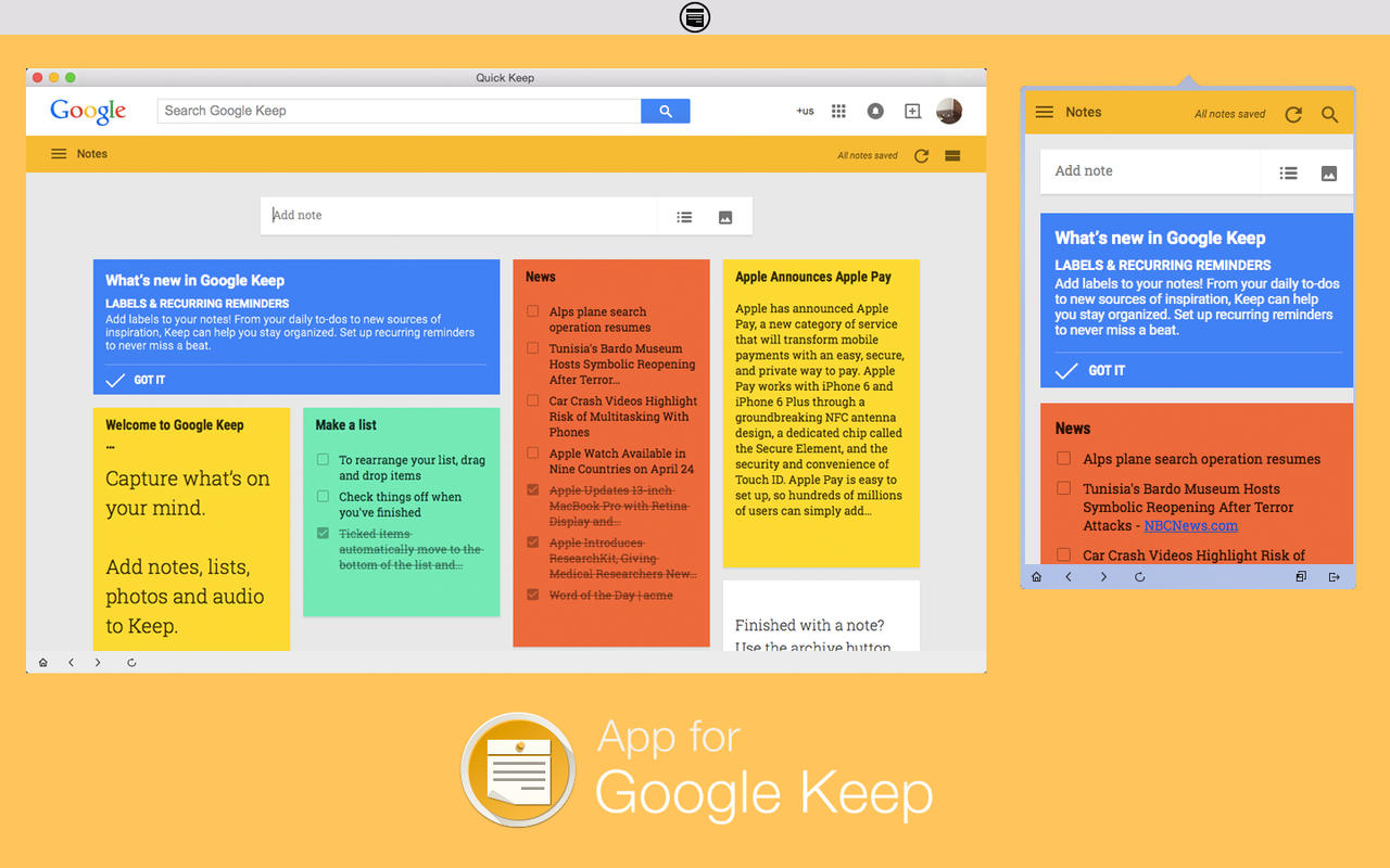 Image result for google keep notes