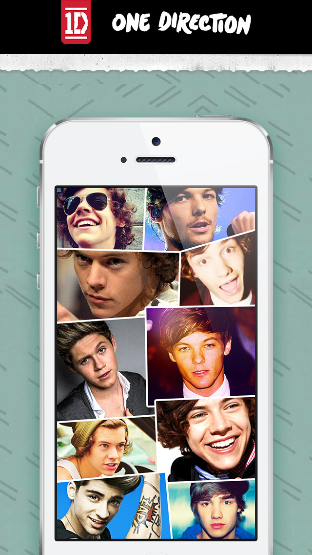 Wallpapers for One Direction - One Direction Themes and Skins for iPhone, iPod and iPad ...