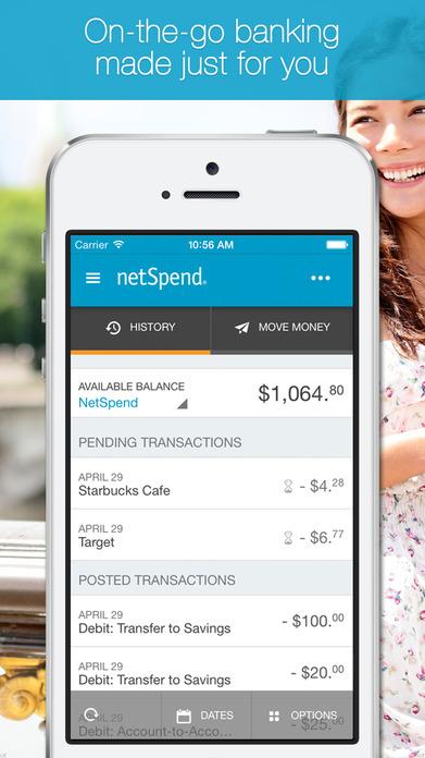 NetSpend Mobile Banking Screenshot