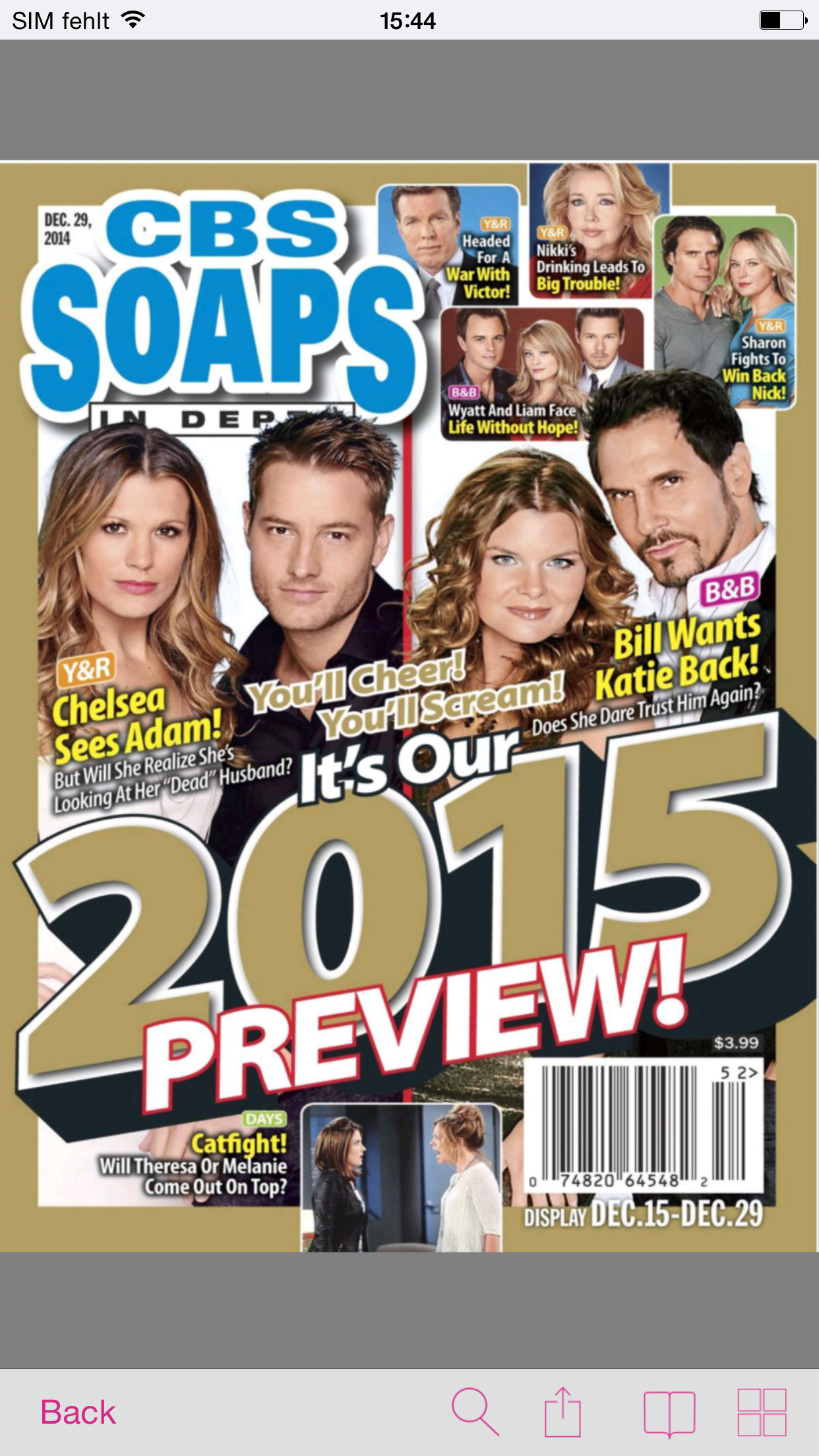 CBS Soaps in Depth Screenshot
