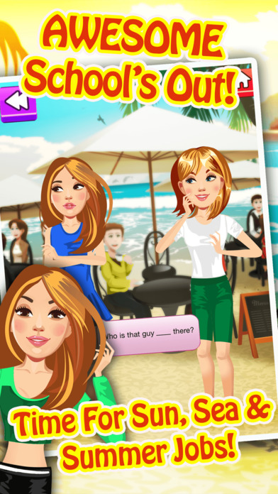 My Teen Life Summer Job Episode Game - The Big Fashion Makeover Cover Up Interactive Story Pro Screenshot on iOS