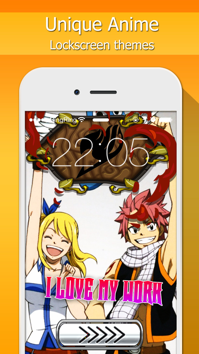 Lock Screen Design Manga Anime Wallpapers Quotes And Calendar Fairy Tail Style